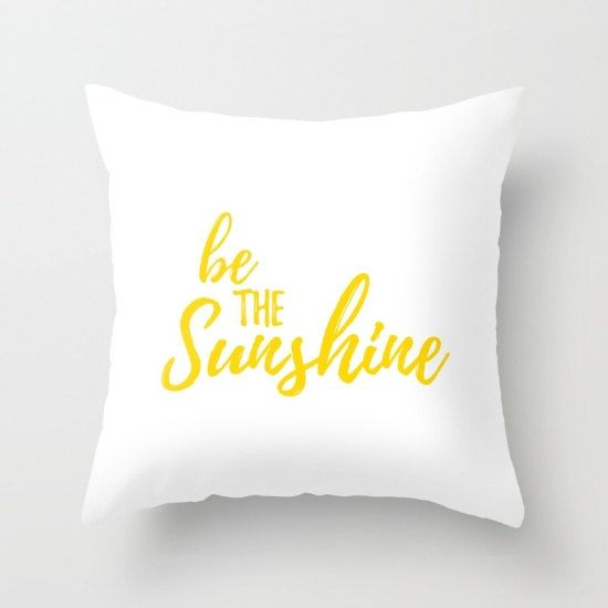 Items similar to Throw Pillows, White and Yellow, Pillow Covers, Decorative Pillows, Be The Sunshine, Sun Sayings, Positive Quotes, Motivational Decor on Etsy