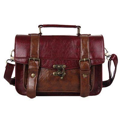 2016 Women's Messenger Bags Briefcase Durable Women Cross-body Shoulder Bag Leather Femininas Briefcases For Ladies Vintage Tote
