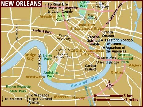Map of New Orleans My Home Town State Pinterest