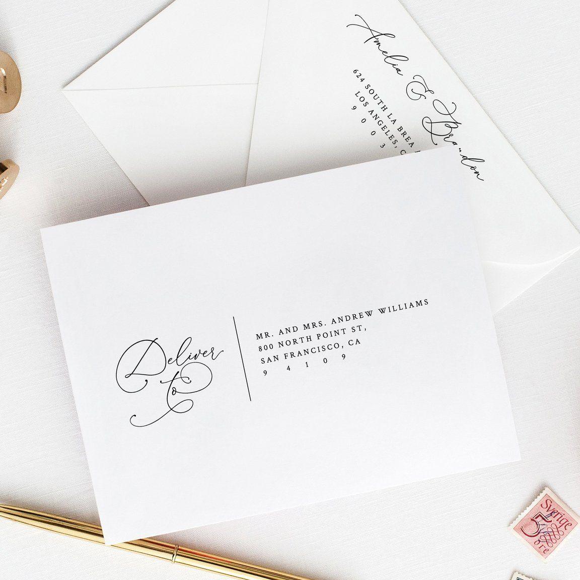 Wedding Envelope Template Printable Address Envelope Diy Wedding Address Wedding Invitations Labels Addressing Envelopes Wedding Wedding Invitation Envelopes