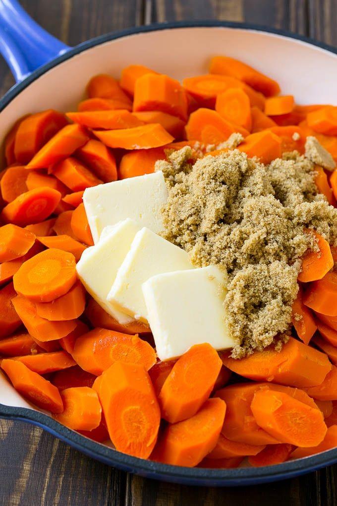 Glasierte Karotten - Gesundes Essen - My rezepte recipes #dishesfordinner