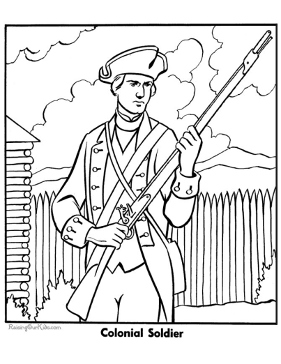 Military Coloring Page To Print Colonial Soldier Flag Coloring Pages Coloring Pages Free Coloring Pages