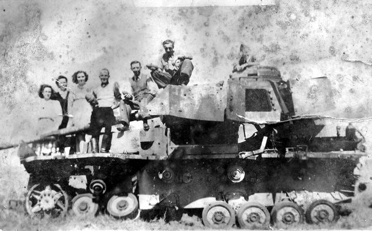 Battle Of The Bulge  Knocked out German Stug III