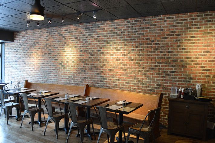 Chatty Monks Bar Restaurant In West Reading PA Using A Fan Favorite Glen Gery Milwaukee Thin Brick As Their Accent Wall
