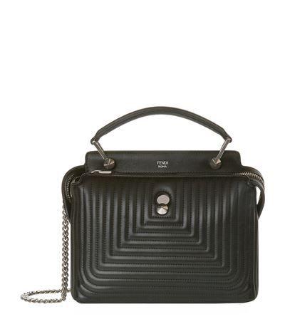 ff8dd4b035 Fendi Small Dotcom Click Shoulder Bag Black available to buy at Harrods.  Shop designer handbags online and earn Rewards points.