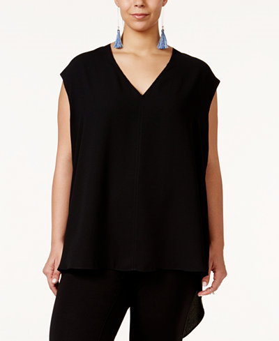 79.00$  Buy now - http://viwmr.justgood.pw/vig/item.php?t=bcqrgnt1736 - Trendy Plus Size Sydney High-Low Blouse 79.00$