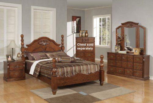 post 4pc queen size bedroom set