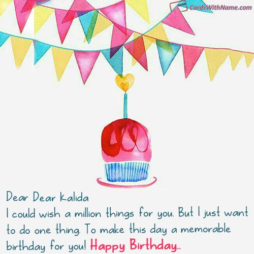 Dear kalida Name Card skparveen in 2019
