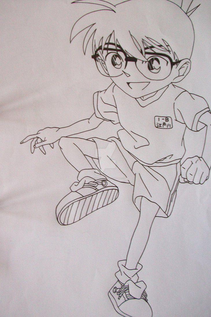 Conan Edogawa Anime Nghệ Thuật đang Yeu