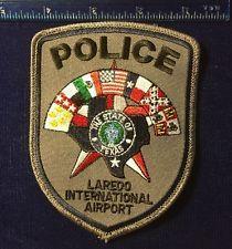 LAREDO TEXAS TX INTERNATIONAL AIRPORT POLICE PATCH