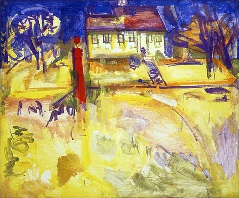 "huariqueje: "" Suburbian - Hans Hofmann , 1936 German-American, 1880-1966 Oil on plywood """