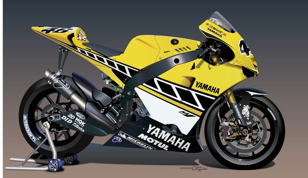 Team yamaha valentino rossi 1997 125cc world champion for Yamaha 500cc sport bikes