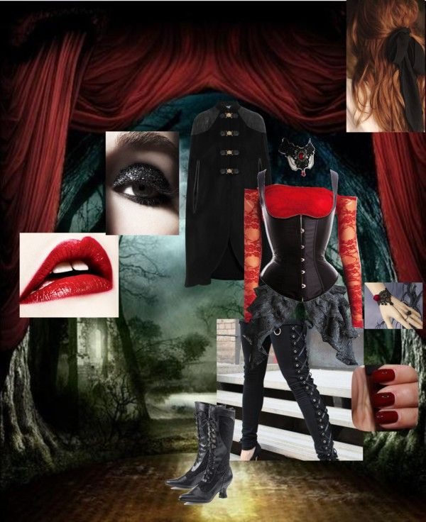 """""""Gothic Rose"""" by flightytemptress on Polyvore"""