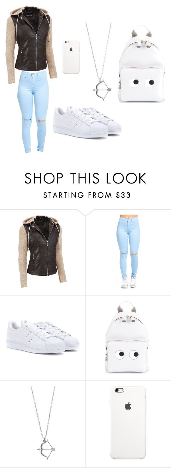 """Untitled #43"" by silvija-velicko ❤ liked on Polyvore featuring adidas and Anya Hindmarch"