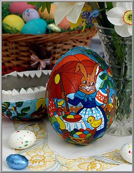 Easter shop paper mache egg gift box western germany d blumchen easter shop paper mache egg gift box western germany d blumchen negle Images