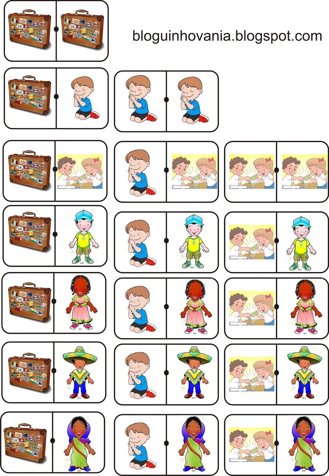 Bloguinho Da Vania Domino Tema Missoes Atividades Biblicas Infantil Atividades Da Biblia Para Criancas Louvor Infantil