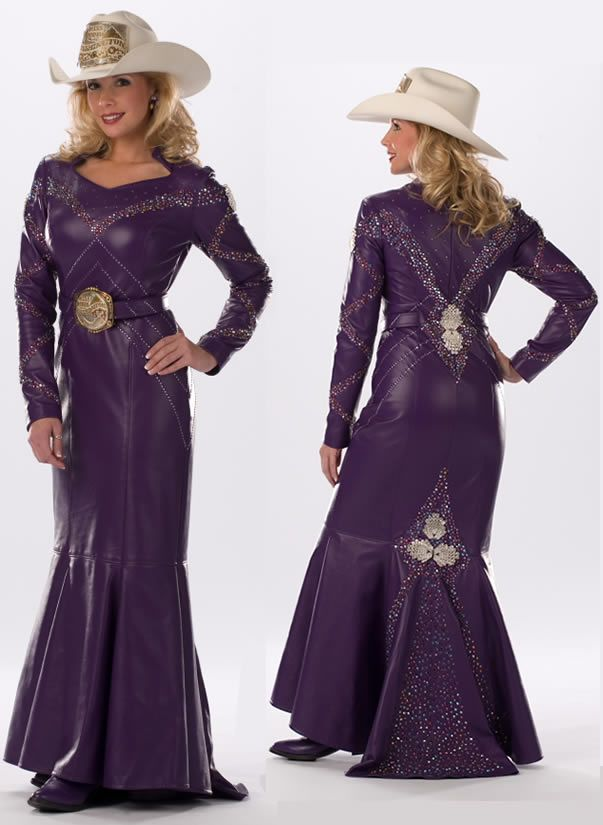 Rodeo Queen Clothes For Jessica Looks Glamorous In Her Purple Lambskin Dress From Every Angle