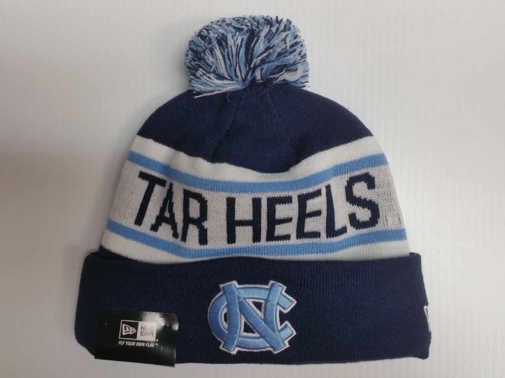 23ee35d1ba6 North Carolina UNC Tar Heels New Era Knit Hat Biggest Fan Beanie Stocking  Cap in Sports Mem