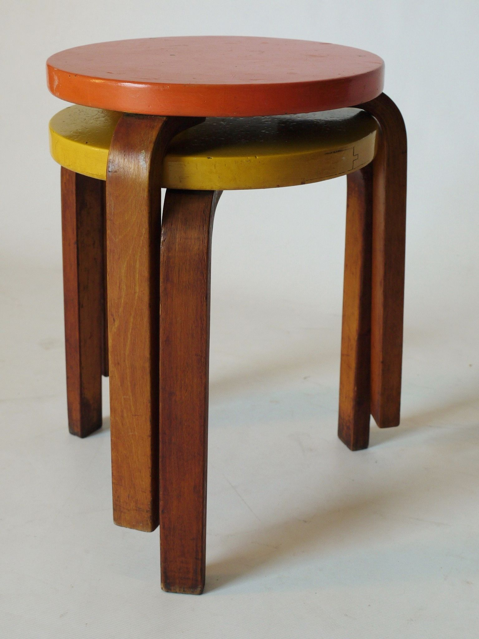Salle De Bain Alvar Aalto ~ pair of alvar aalto model 60 stools made in finland and retailed by