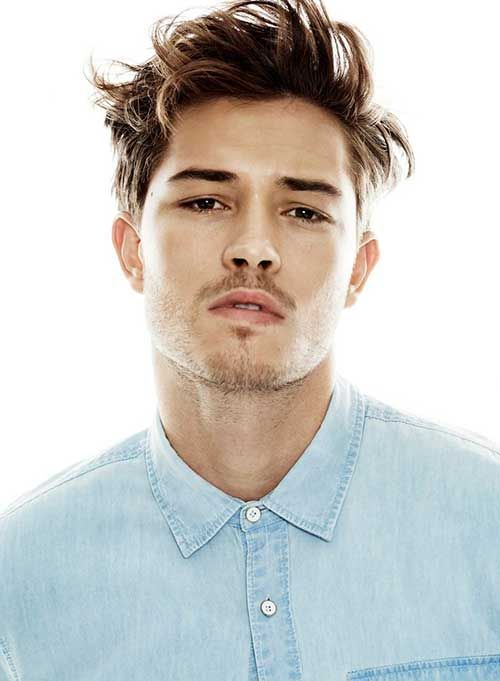 Strange Men Messy Brown Color Hair 2015 Hairstyle Mens Style Hairstyles For Men Maxibearus