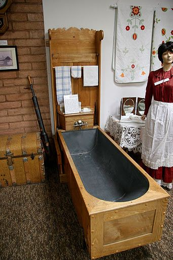 Interesting place: Encampment Museum in WY (folding bathtub made of ...