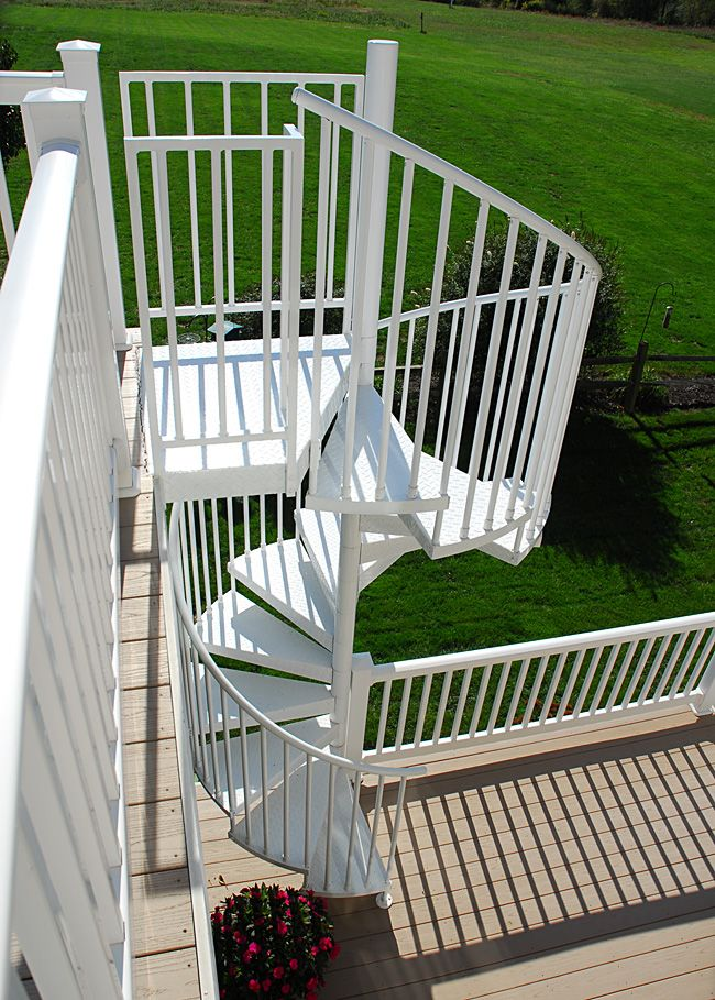 Best Side View Of A 5' Diameter Aluminum Spiral Stair I Sort 400 x 300