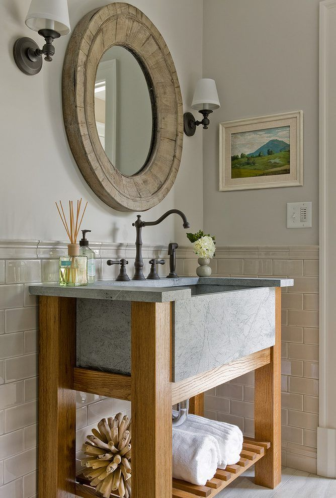 Industrial Utility Sink Bathroom Transitional With Wall Sconces Bathroom  Plastic Vessel Sinks