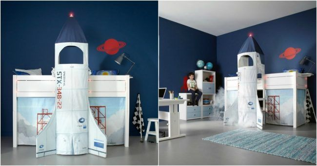 Un lit pour enfant fusée pour ceux qui ont beaucoup beaucoup de