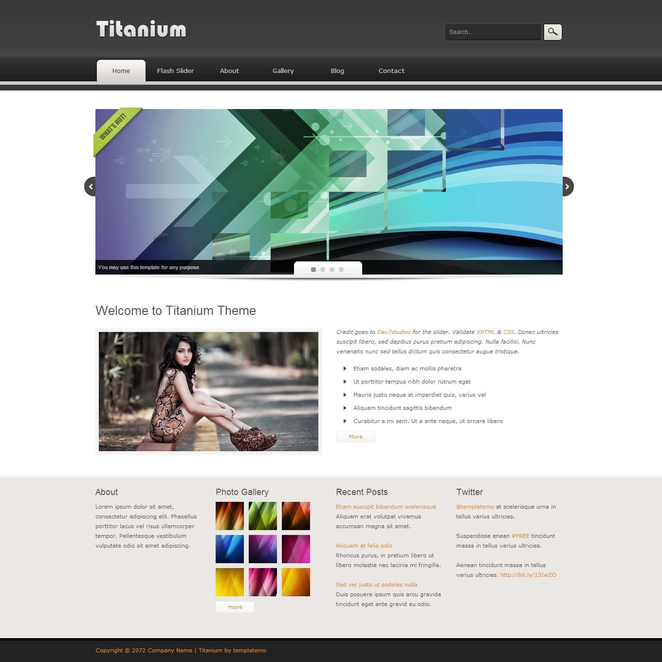 free dreamweaver web template