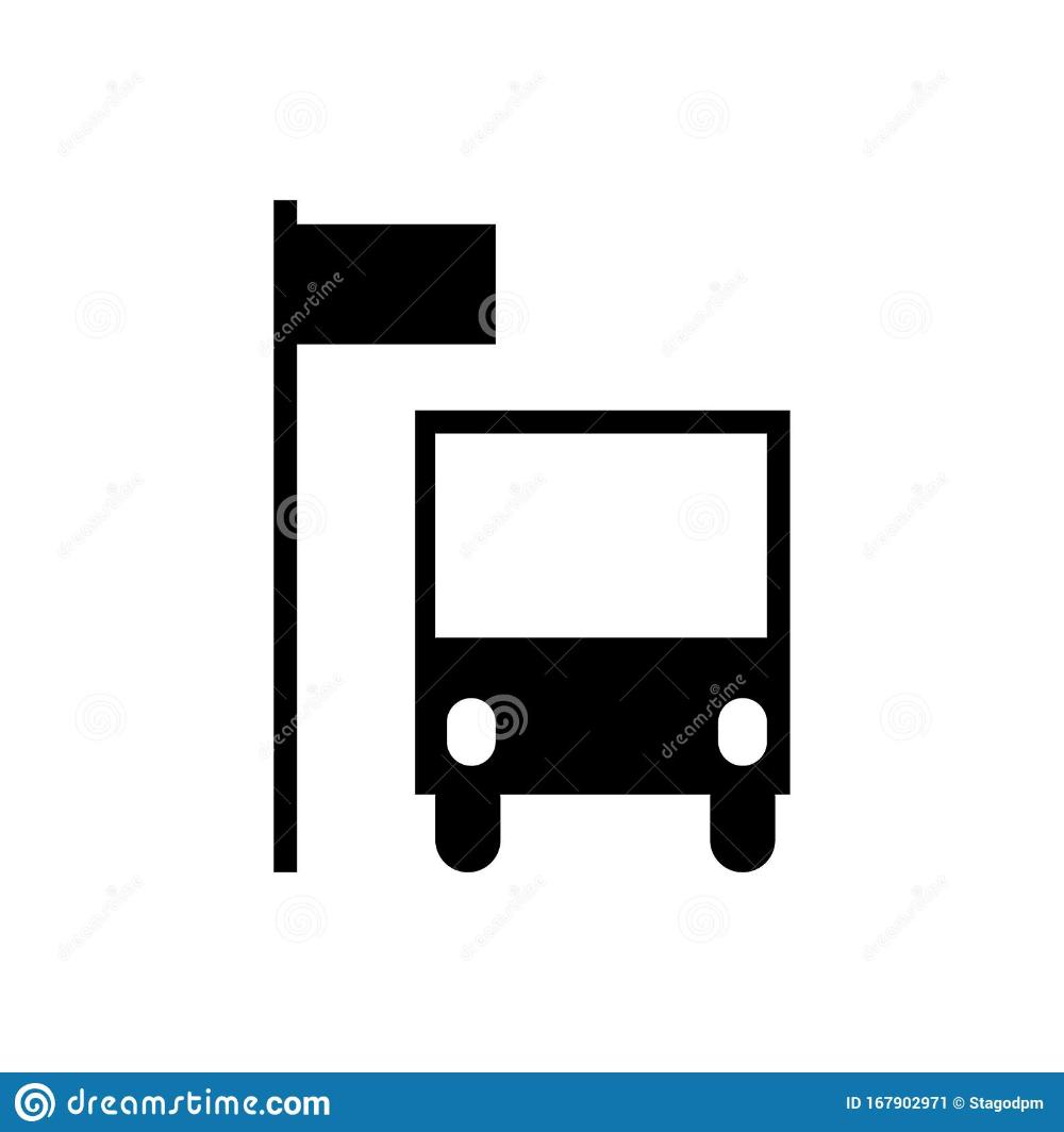Bus Stop Icon Isolated On A White Background Stock Illustration Illustration Of Travel Symbol 167902971 Vector Illustration White Background Illustration