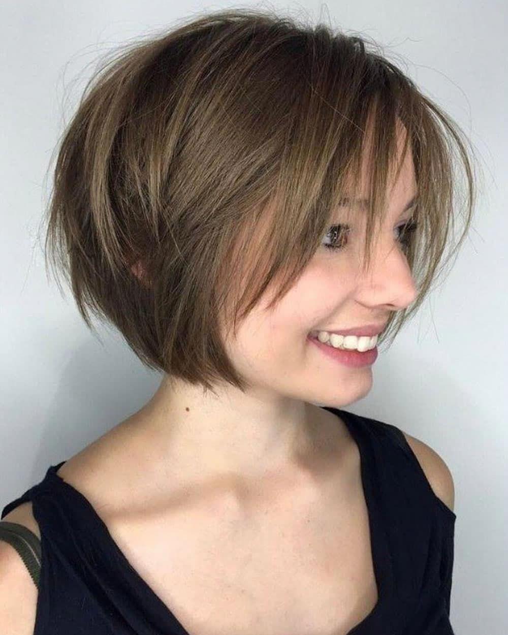 Cute Short Bob Haircuts For Round Faces Womens Hairstyles Bobs Hairstyle For R Senti Bob Hairstyles For Round Face Short Bob Haircuts Bobs For Thin Hair