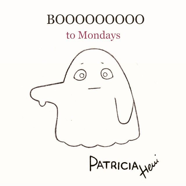 monday mondays halloween ghost drawing drawings montag hetfo