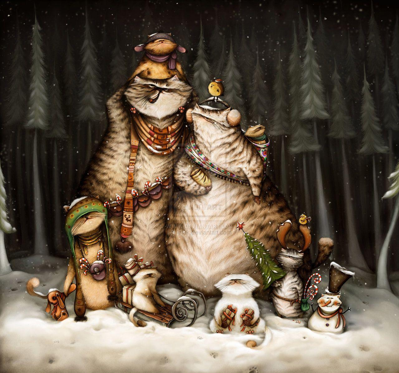 Christmas time by Anuk.deviantart.com on @DeviantArt