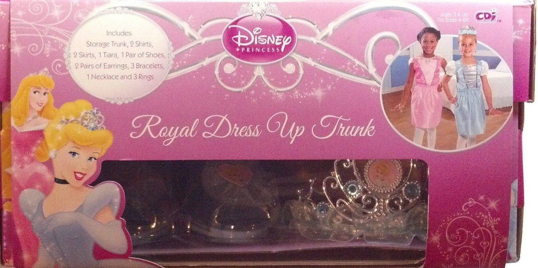 Disney princess royal dress up trunk includes