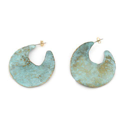 Oxidised Half Moon Earrings by Sibilia