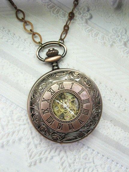 pretty bronze watch pendant