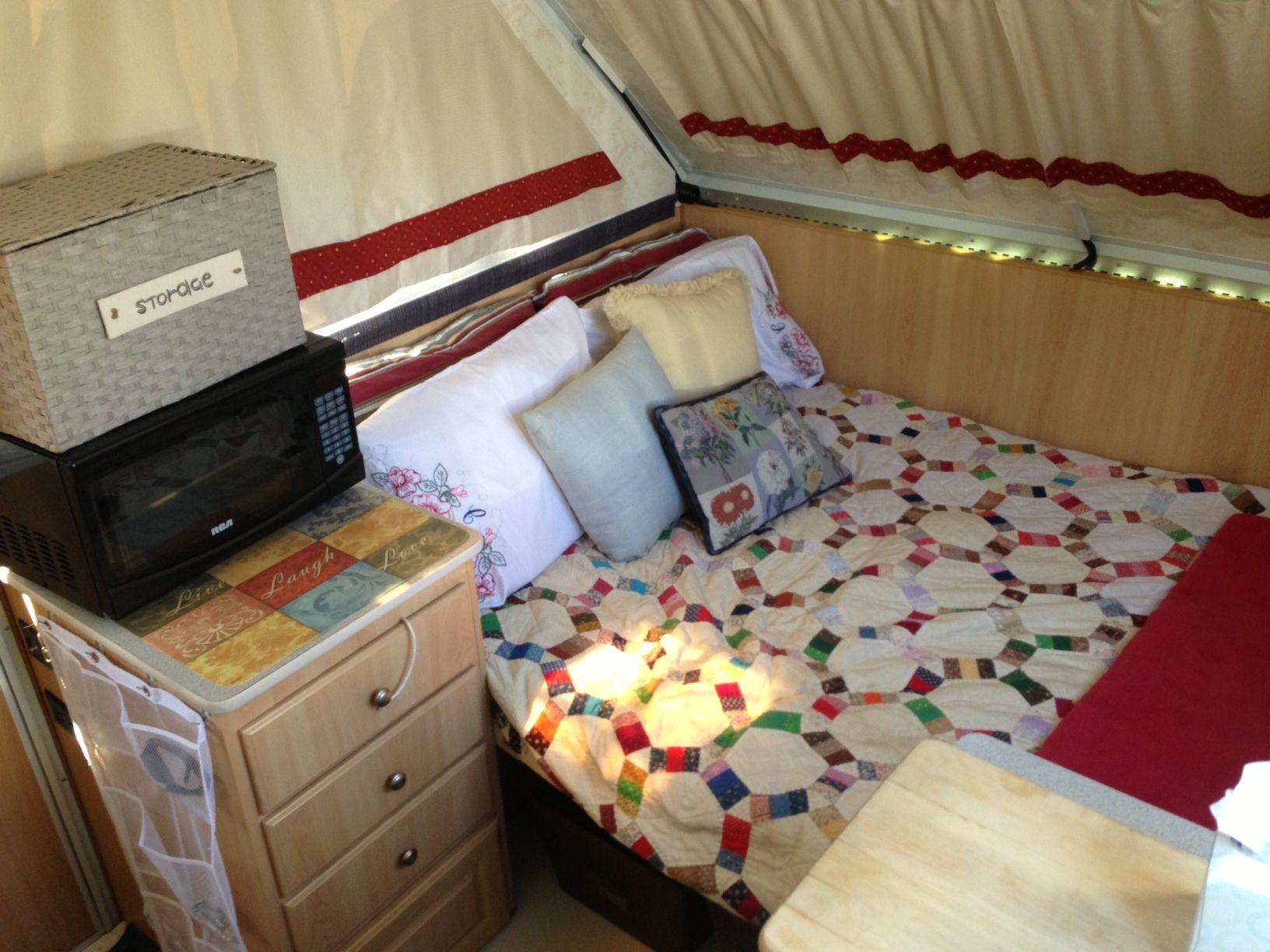 2007 Chalet Arrowhead A Frame Camper Makeover Bed Area A Frame