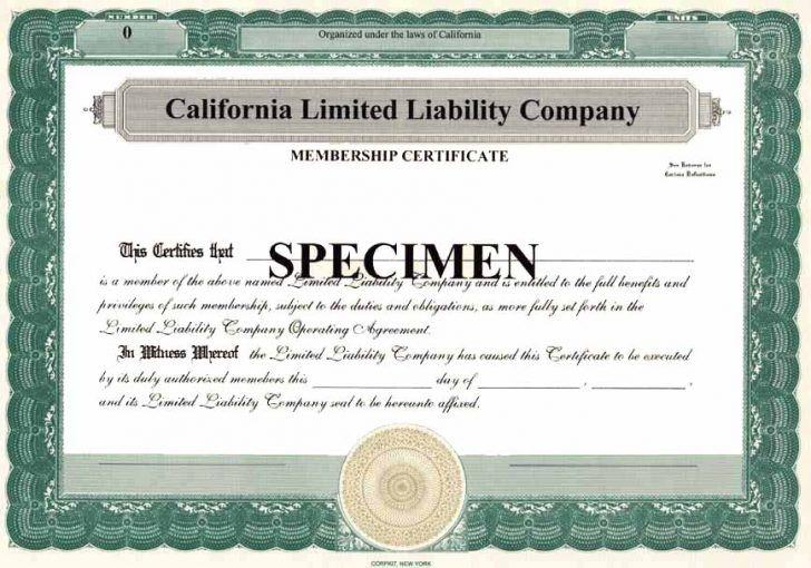 Llc membership certificates