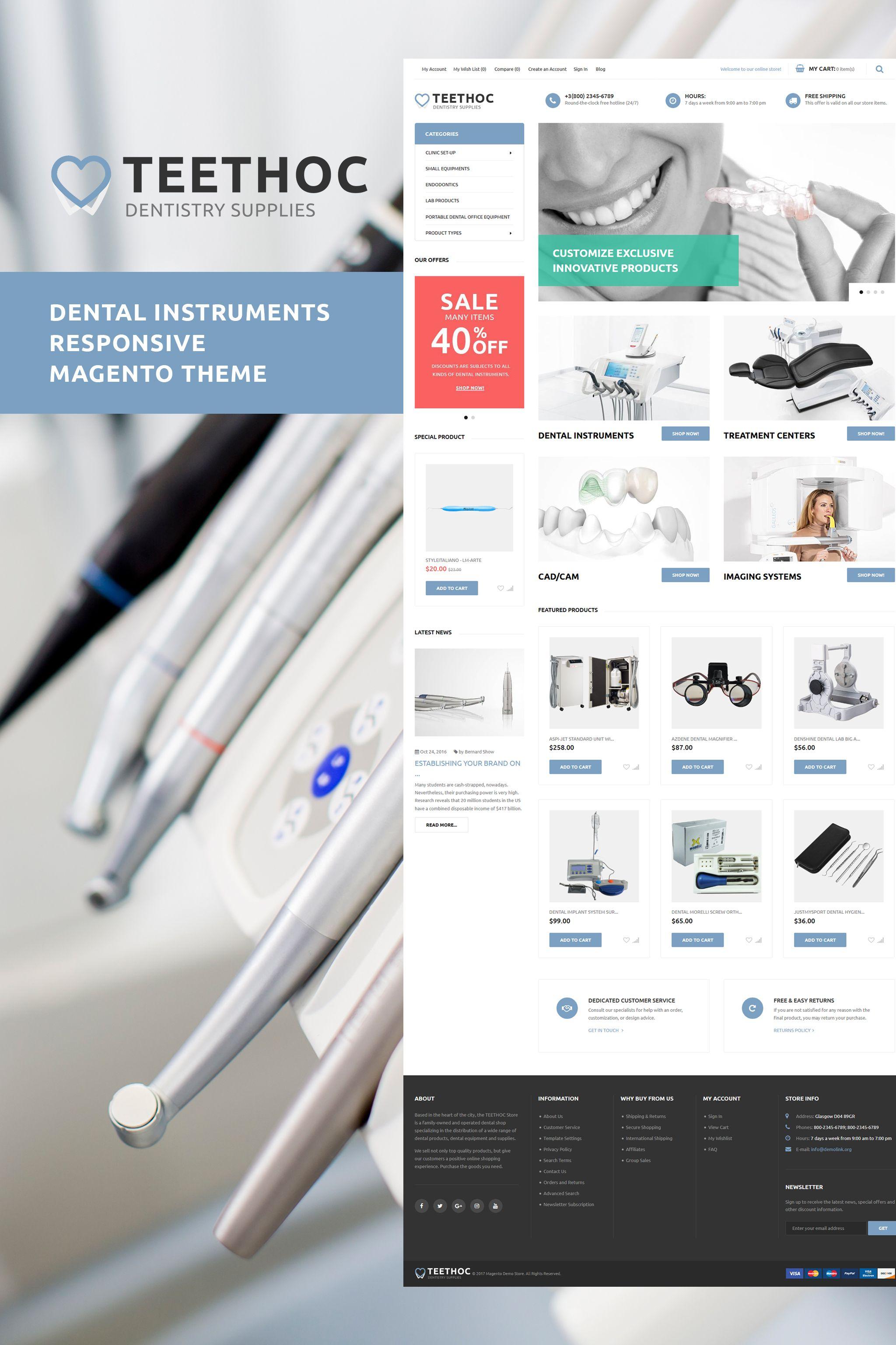 Teethoc Dental Instruments Magento Theme Pinterest