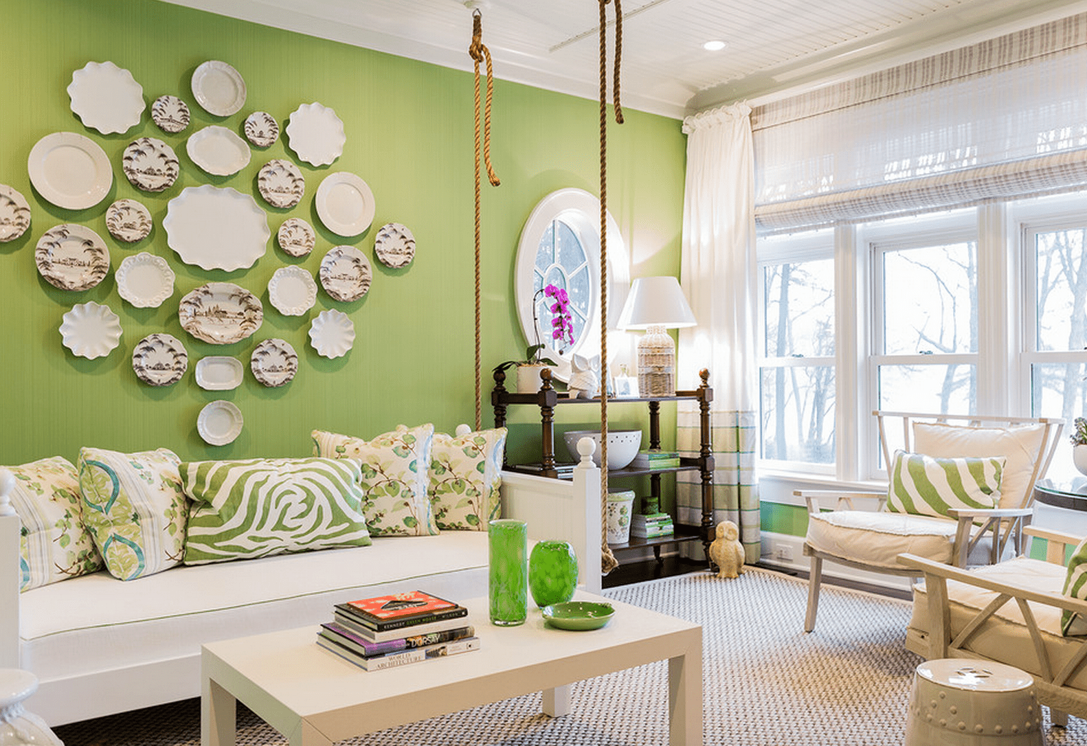 There S No Easier Color To Decorate With Than Green No Matter What Shade You Prefer These Green Livi Living Room Green Living Room Colors Living Room Designs