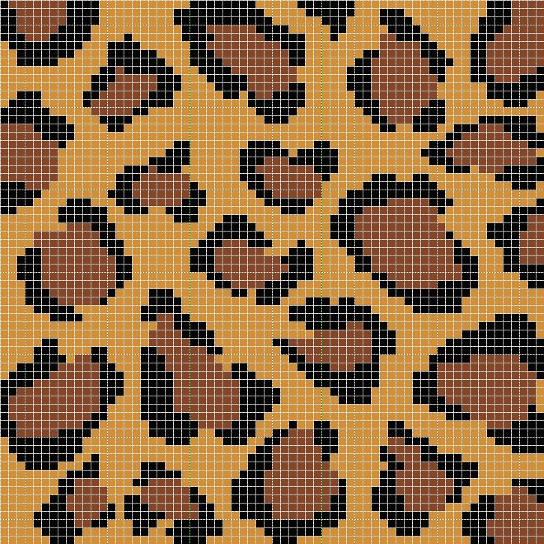 Leopard Print Stitch Design Inspiration Pinterest Crochet