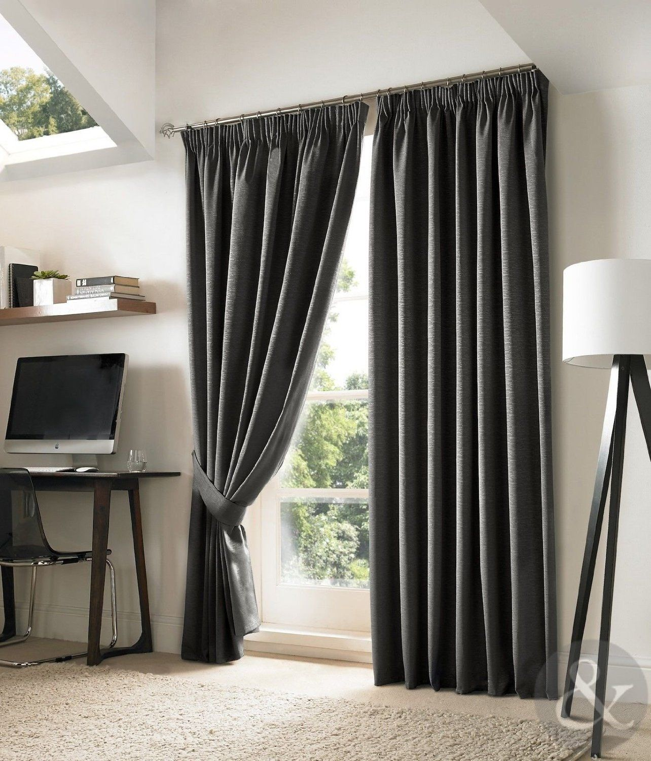 New Blackout Curtains Luxury Fully Lined Embroidered Pencil