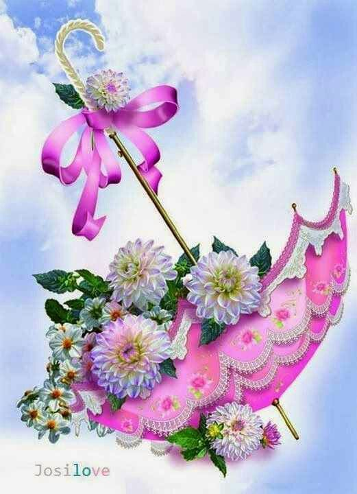 Floral umbrella