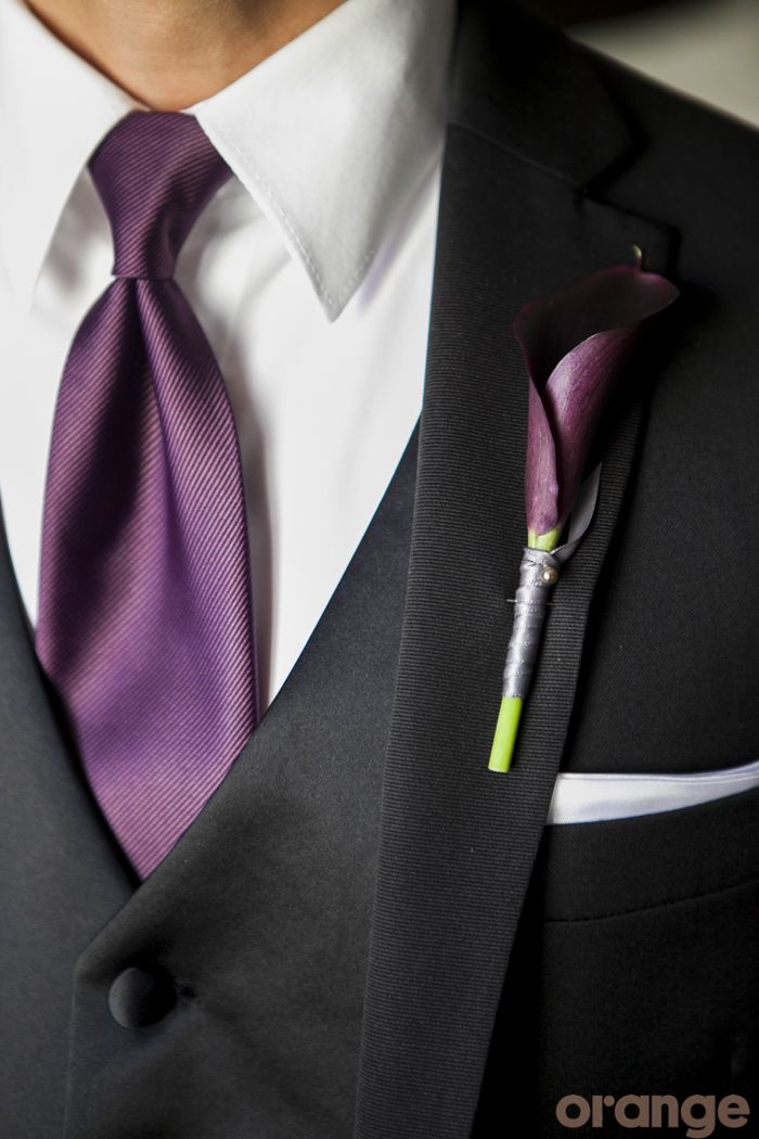 love the grooms suit with purple accents im thinking