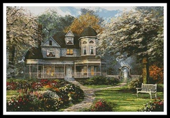 Victorian Home - X Squared Cross Stitch
