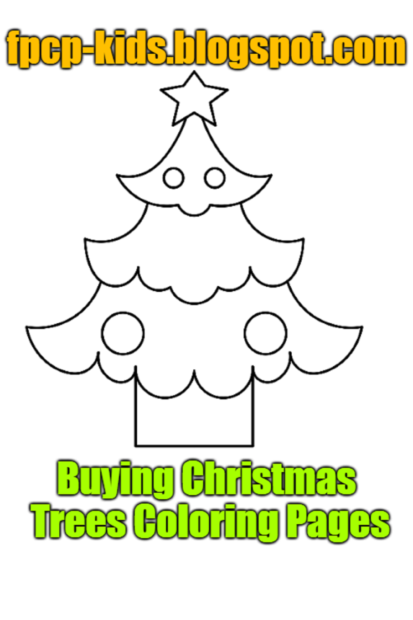 Buying Christmas Trees Coloring Pages Christmas Trees Free