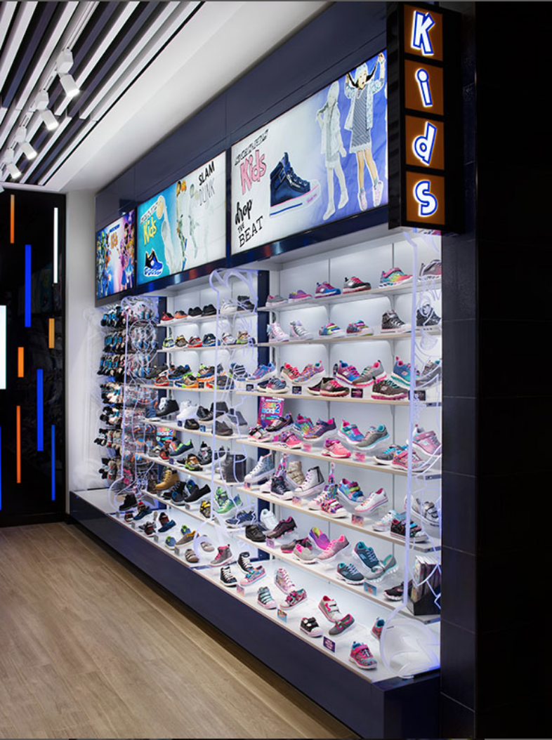 The Retail Displays At The Skechers Performance Store Are Durable