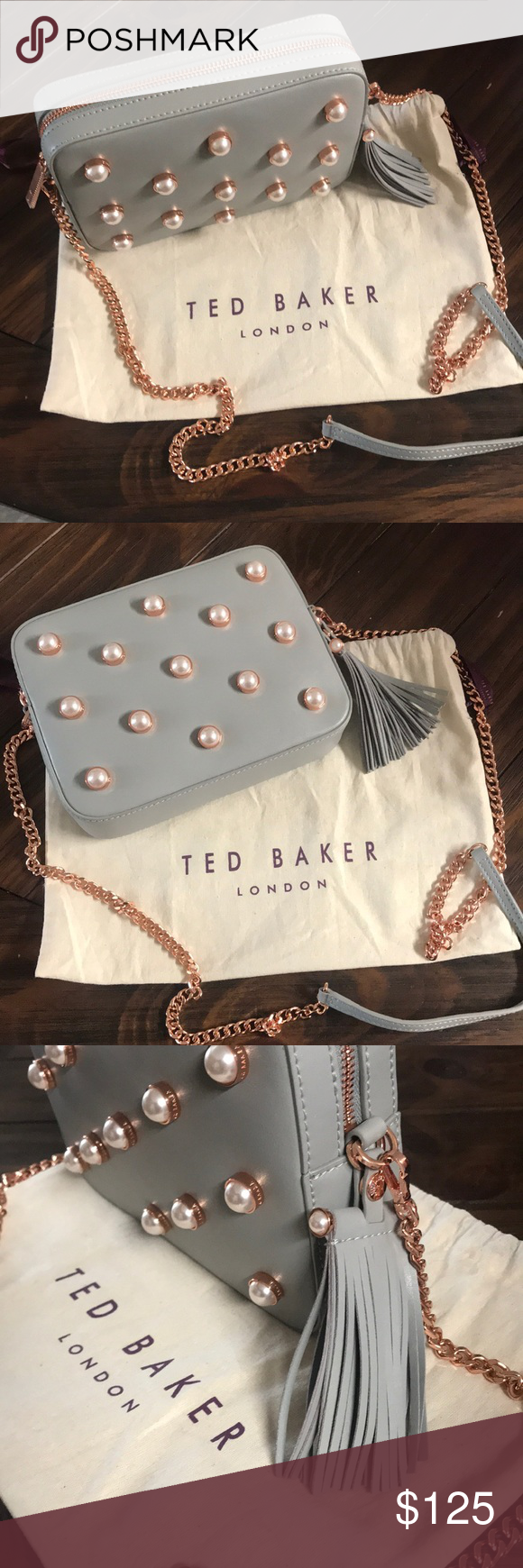 Ted Baker Handbag Beautiful Gray And Pearl Ted Baker Handbag Rose Gold Accents Ted Baker London Bags Crossb Ted Baker Handbag Ted Baker London Bags Ted Baker [ 1740 x 580 Pixel ]