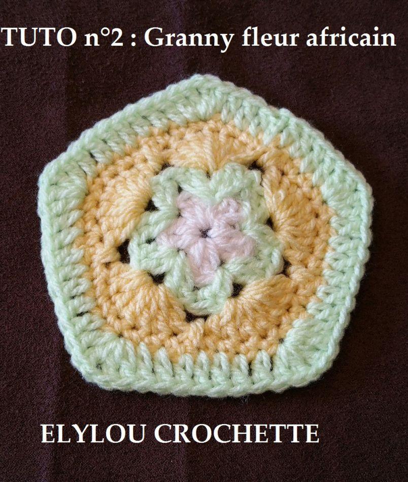 Granny Fleur Africaine N 2 Crochet