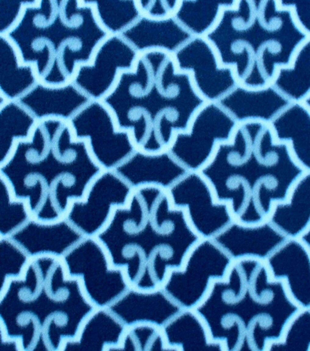 Gorgeous dark u light blue design fleece can be used front u back